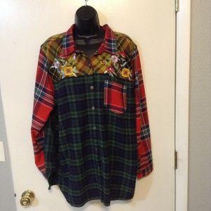 Blair 100% cotton flannel sz XXL long sleeve shirt